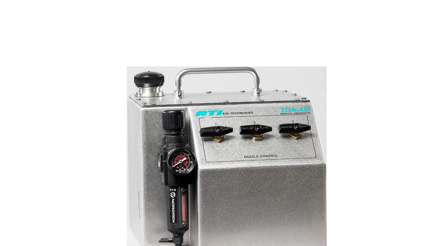 美国ATI 气溶胶发生器TDA-4B气溶胶发生器 产品名称:气溶胶发生器 产品型号:TDA-4B 这是一款最新型的气溶胶发生器,Tda-4B是一款体积小并且价格低廉的气溶胶发生器。即适用于HEPA的过滤性能试验,也适用于使用尘埃粒子计数器进行的泄漏试验,只需要提供清洁的压缩空气即可进行工作。TDA-4B具有三个调节阀,通过调节阀即可对所发生的浮游浓度进行调整。 技术规格